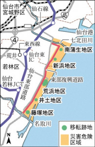 仙台市集団移転跡地
